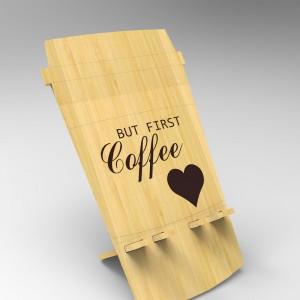Βάση Στήριξης Κινητού από ξύλο σχεδιο coffee