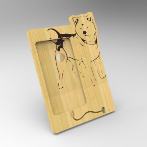 Βάση Στήριξης Κινητού από ξύλο σχεδιο Dog