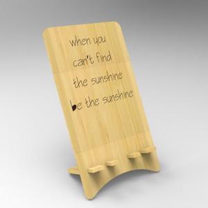 Βάση Στήριξης Κινητού από ξύλο σχεδιο Sunshine