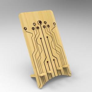 Βάση Στήριξης Κινητού από ξύλο σχεδιο Technology