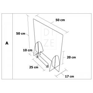 Προστατευτικό Διαχωριστικό Plexiglass 50x50 cm