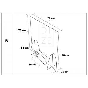 Προστατευτικά διαχωριστικά καταστημάτων 75x75 cm