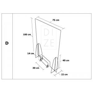 Προστατευτικά διαχωριστικά καταστημάτων 75x100 cm