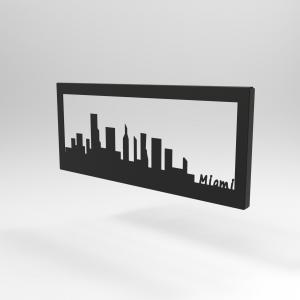Διακοσμητικό Κάδρο Τοίχου Skyline Μαϊάμι