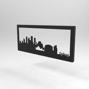 Διακοσμητικό Κάδρο Τοίχου Skyline Σύδνεϋ